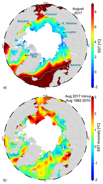 Mean SST and SST anomalies